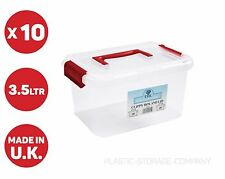 10 x 3.5 LITRE PLASTIC STORAGE BOXES!! CHEAP !HOME ACCESSORIES MAKEUP ANYTHING!!