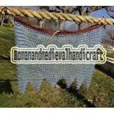Medieval Knight Chain mail Skirt 6 mm Round Riveted With Warser
