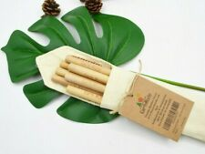 8 Reusable Bamboo Straws with Coconut Cleaning Brush & Gift Pouch for Christmas