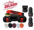 2 BATTERIES CORDLESS POLISHER KIT MINI BUFFER 12V 80MM LITHIUM-ION SANDER TOOLS