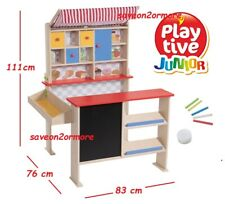 Kids Wooden Toy Shop Supermarket Role Play Toy Shop, inc Chalkboard  Xmas Gift