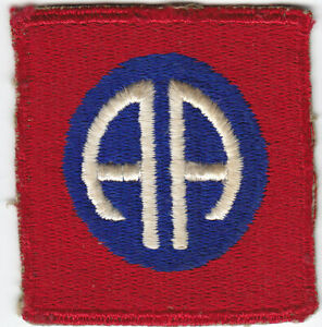 Original WWII US Army 82nd  Airborne Division Patch - Greenback, No Tab, No Glow