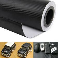"16""x50"" DIY 3D Carbon Fiber Vinyl Wrap Roll Film Sticker Decal Car Vehicle Black"