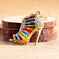 Refinement High Heel Shoes Keychains Rhinestone Shoe Keyring Handbag Key Holder