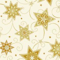"""250 Servietten 3-lagig 1/4-Falz 40 cm creme """"Just Stars"""" Sterne Weihnachten"""