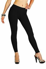 Black S-m Ladies Long Footless Leggings THIGT Thick Warm Heat Trapper Winter