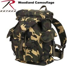 Camouflage Backpack Military Canvas Outdoorsman Rucksack Bag Woodland Camo 2306