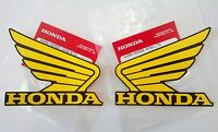 Honda  Wing Fuel Tank Decal Wings Sticker 2 x 100mm YELLOW & BLACK 100% GENUINE