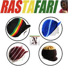 Reggae Jamaica Dreadlocks Rasta Hat Cap Marley Crown Selassie Hats Africa L/XL