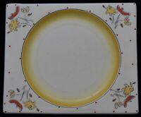 Clarice Cliff Pottery Bizarre Biarritz Polka Dot Plate Yellow Bon Jour Art Deco