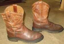 Mens ARIAT ATS Max Workhog Pull On Brown Leather Work Boots sz 11 EE
