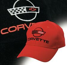 d8fa008c C4 CORVETTE Embroidered Script and Logo Hat Choose Red, White, or Black  630879