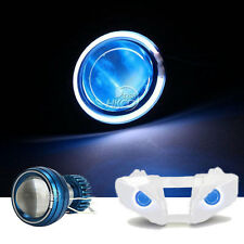 White Halo Angel Blue Demon Eye Headlight For Yamaha R6 99-02 2000 2001 2002