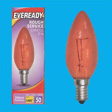 12x 25W ROUGE FIREGLOW SES E14 Bougie AMPOULE, électrique Fires, brooders etc