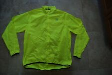 Bright Neon Yellow NISHIKI Zip Front High Visibility Cycling Shell Jacket Large