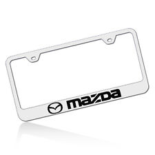 Mazda Chrome Stainless Steel License Plate Frame