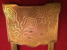 Antique Art Nouveau Brass Expandable Book Rack Bookend
