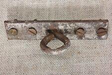old Plant Hook Porch ceiling hanger iron rustic primitive vintage eye on plate