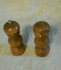 Vintage Wood Salt Shaker and Pepper Mill