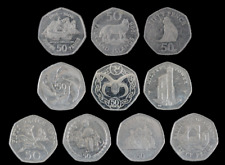 50p Coin Fifty Pence Isle of Man Gibraltar Guernsey Jersey Falklands Territories