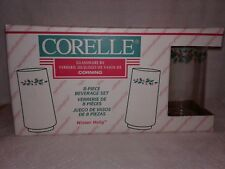 Vintage Corelle Glassware Winter Holly Set of 8 New in Original Box from 1995