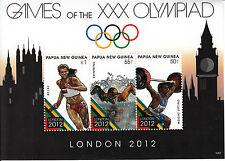 Papua New Guinea 2012 MNH London Olympics 3v M/S Olympic Games Swimming