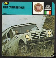 1953-1978 FIAT CAMPAGNOLA Car Picture History Fact CARD