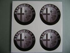 4x 55 mm ADATTA PER ALFA ROMEO LEGA RUOTA ADESIVI Center Badge Centro Trim CAP HUB