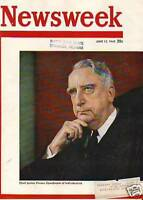 1949 Newsweek June 13 -Chief Justice Vinson;Israel is 1
