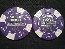 "Harley Davidson Poker Chip (Purple & White) ""Southern Thunder H-D"" Southaven MS"