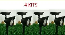4 New Outdoor Garden 3-LED Solar Spot Flood Landscape Light