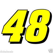 "12"" Jimmie Johnson Number 48 Window Decals Vinyl Stickers Hendrick Motorsports Y"