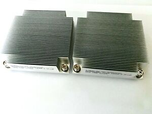 *LOT OF 2* INTEL G19642-002 LGA 2011 1U SQUARE ALUMINUM HEATSINK SERVER!