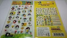 6 sheet Korean SSBA Watercolor sticker set PVC journal Diary scrapbook