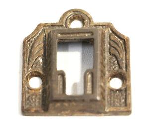 Antique Brass Key Hole Oval Escutcheon Key Cover Door Hardware Eastlake