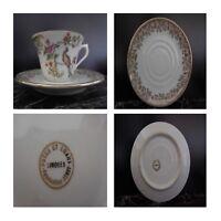 3 tasses 6 soucoupes porcelain pates émaux Limoges BERRY model Pop Art N138