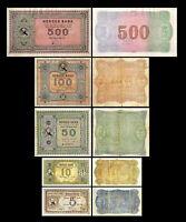 Norvège - 2x  5 - 1.000 Kroner - Edition 1877 - 1899  - Reproduction - 10