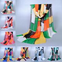 Fashion Womens Long Soft Wrap Lady Shawl Silk Chiffon Scarf Scarves Summer Stole