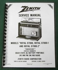 "Zenith Trans-Oceanic Royal D7000 service manual: w/ 11""X26"" Foldout Schematic"
