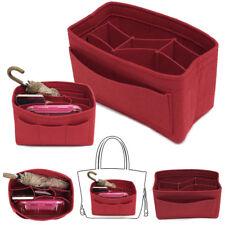 Red Handbag Organizer Bag Purse Insert Bag Felt Fabric MultiPocket Liner Tote