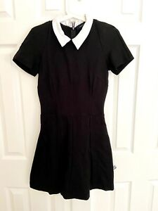 French Connection Black Dress Size 10 Wednesday Addams Family Halloween