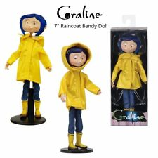 NEW Coraline Raincoat Bendy Fashion Doll
