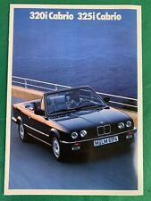 BMW 1989 320i Cabrio & 325i Cabrio German Sales Dealer Brochure, Convertible