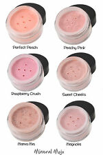 100% Natural Mineral Blush - Choice of 6 shades - Mineral Mojo Makeup Blusher