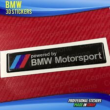 Adesivo Resinato 3D BMW M Mtech Emblem Powered by Motorsport  120 x 25 mm