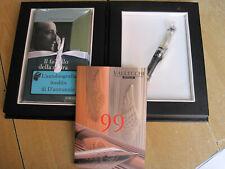 VALLECCHI *99* FOUNTAIN PEN SILVER-LIMITED ED.-SEALED-BOX SET & D'ANNUNZIO BOOK
