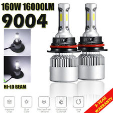 2x 9004 HB1 White CREE 160W 16000LM LED Headlight Kit High/Low Beam Lamp Bulbs