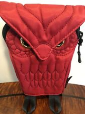 """Darling's Red Owl Design Shoulder Bag ,7x4""""Travel Wallet With Lots Of Place"""