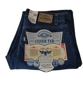 Levis Silver Tab 508 Mens Jeans 30x34 W30 L34 Super Loose Vintage Deadstock