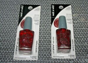 WET N WILD WILDSHINE NAIL COLOR C435G SPARKED LOT OF 2 BOXED